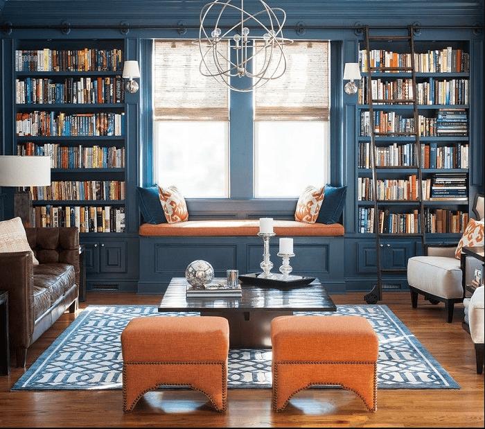 Thư viện mini tại nhà. Ý tưởng thiết kế cho người yêu sách