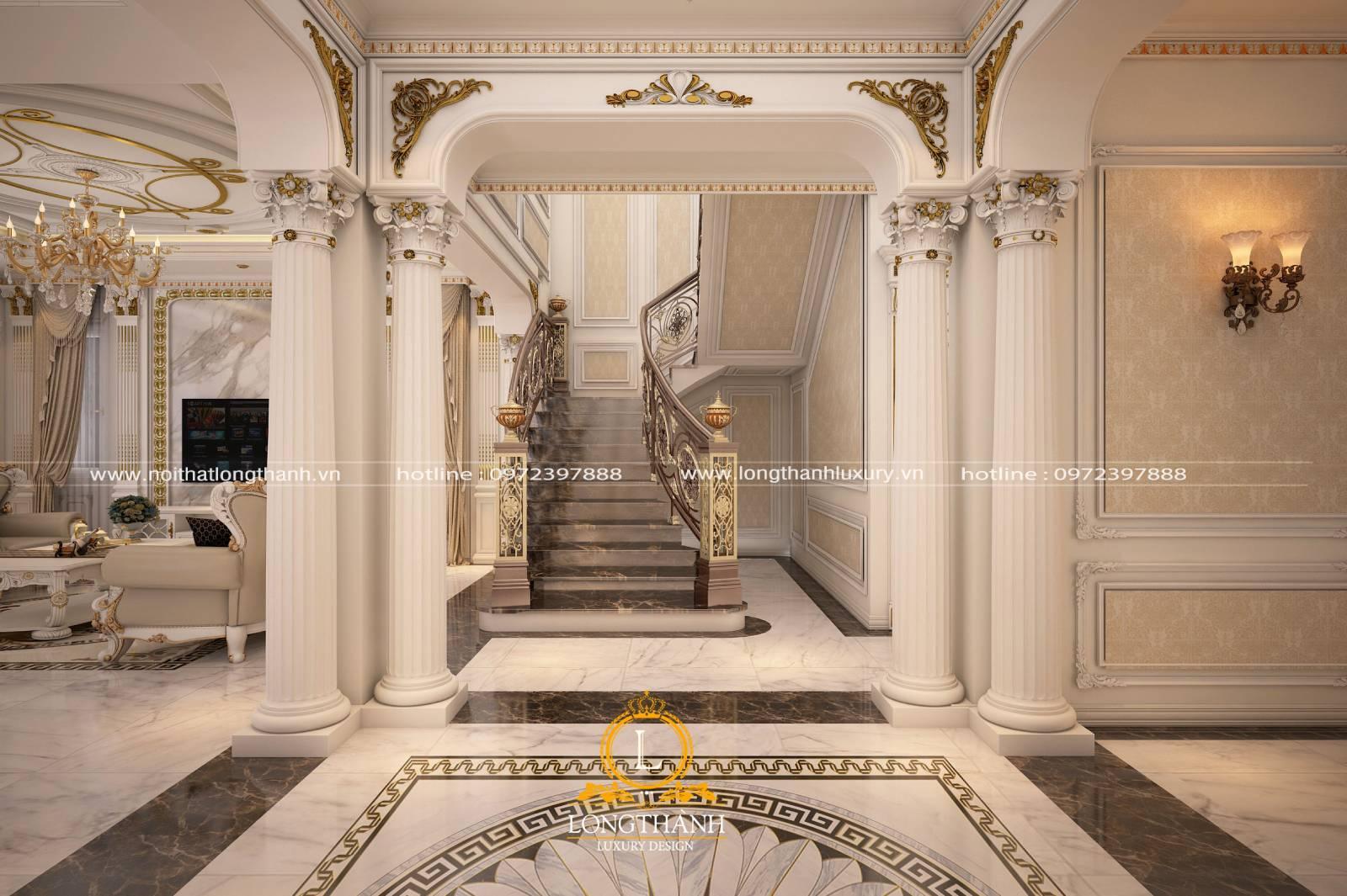 Trang trí cầu thang phòng khách đẹp bằng tủ và kệ SIÊU tiện lợi