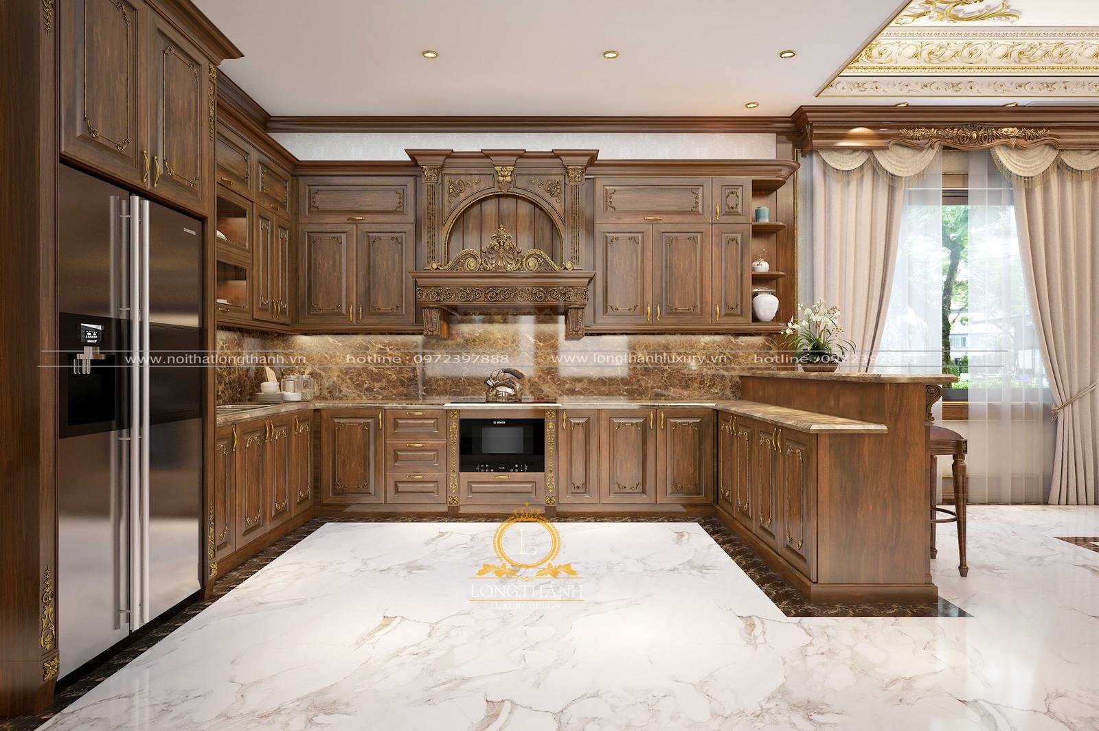 Tủ bếp tân cổ điển LT02