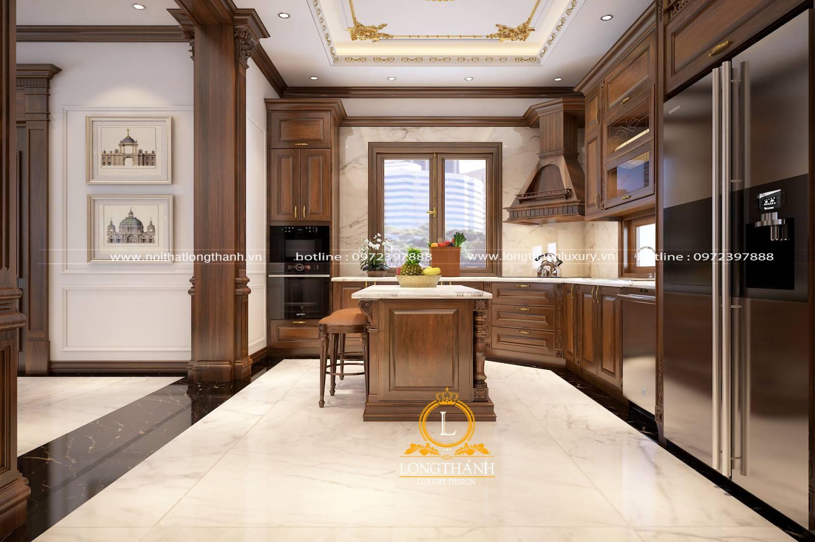 Tủ bếp gỗ Gõ LT30