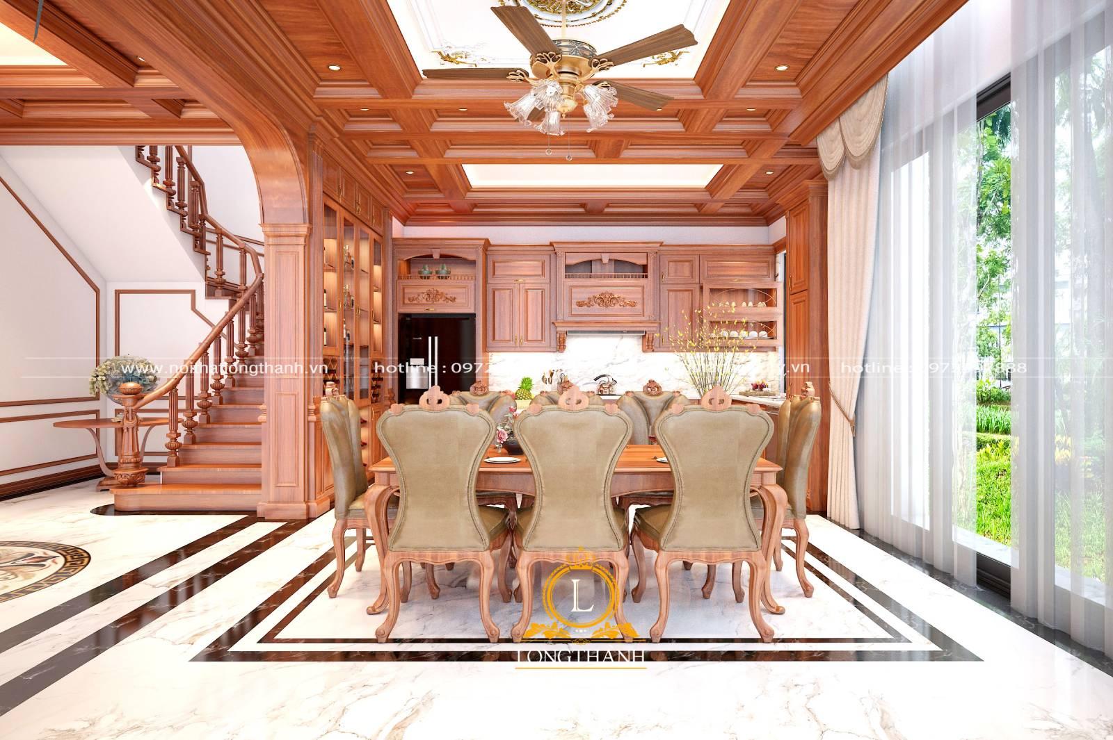 Tủ bếp gỗ Gõ LT39