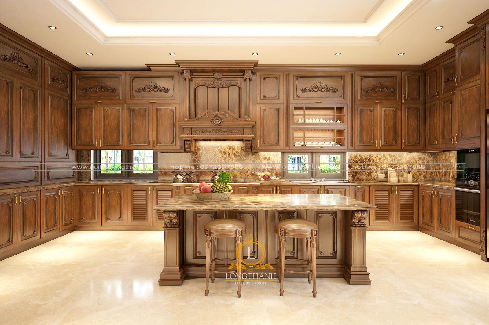 Tủ bếp tân cổ điển LT01