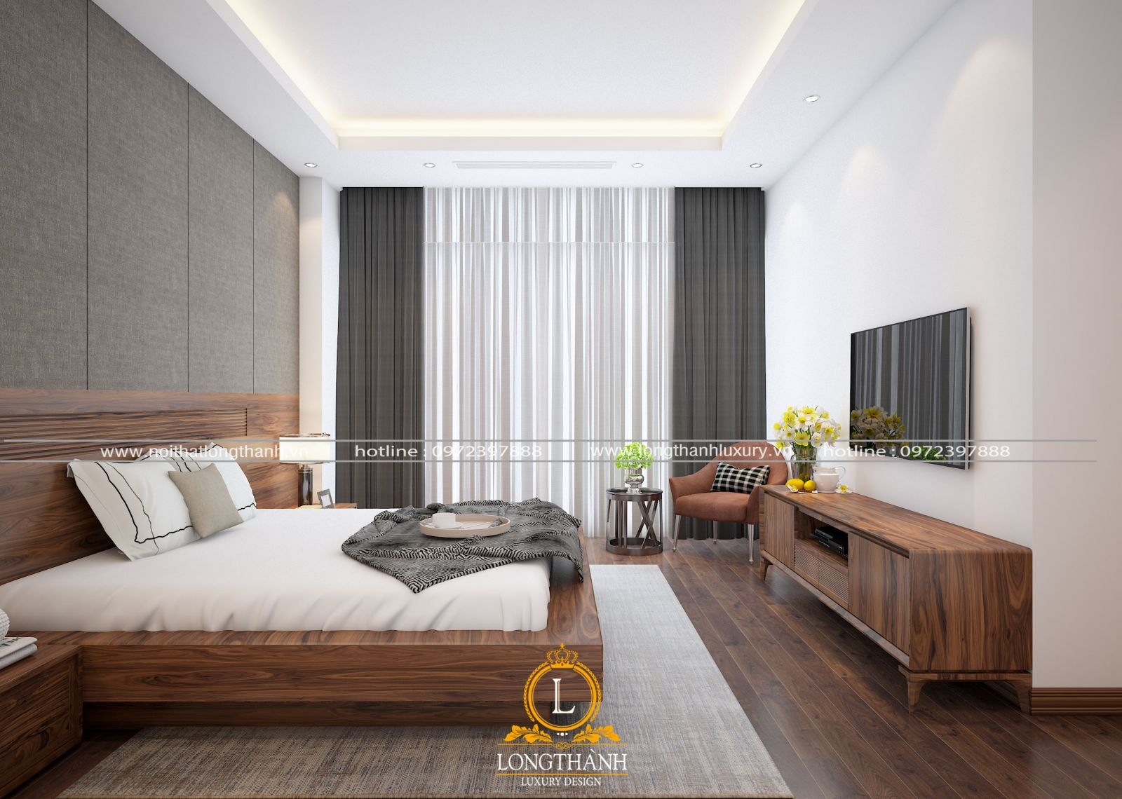 Sử dụng rèm cửa giúp điều chỉnh lượng ánh sáng vào phòng và tăng thêm vẻ đẹp cho không gian