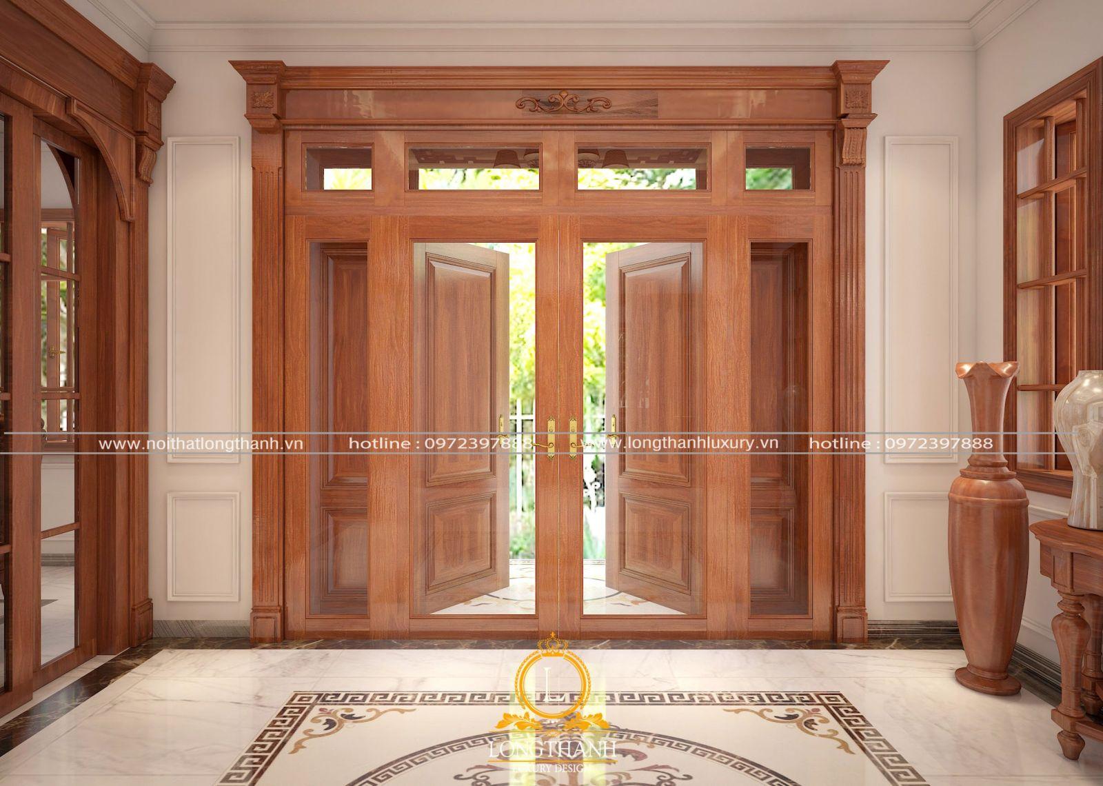 Thiết kế cửa gỗ tự nhiên hiện đại cho phòng ngủ thay cho các loại cửa gỗ xưa