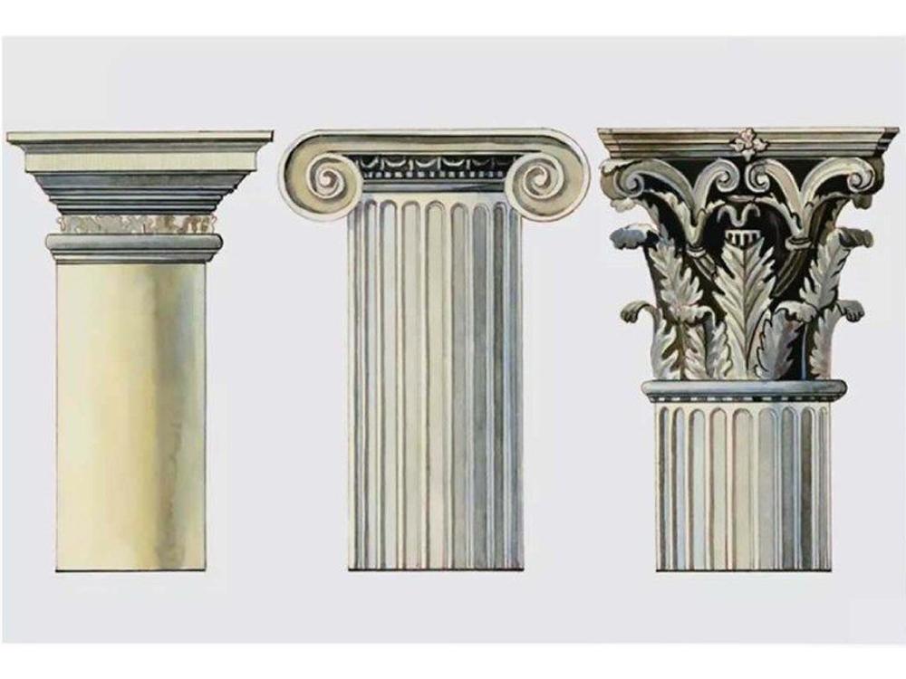 3 thức cột trong trang trí nội thất Hy Lạp