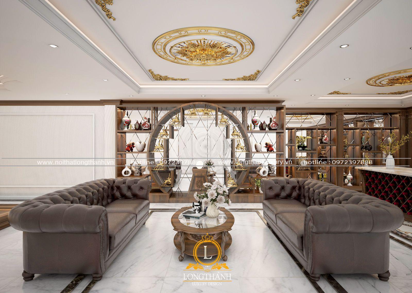 Thiết kế phòng trừng bày cho nhà biệt thự rộng