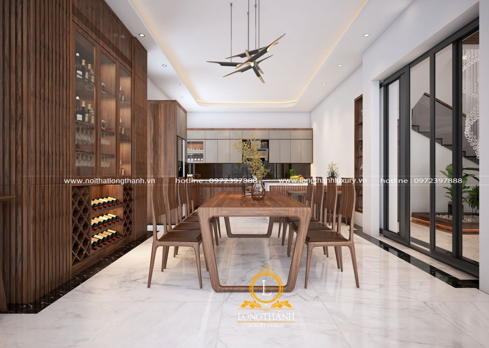 Bàn ghế ăn thiết kế theo phong cách hiện đại nhẹ nhàng và tinh tế