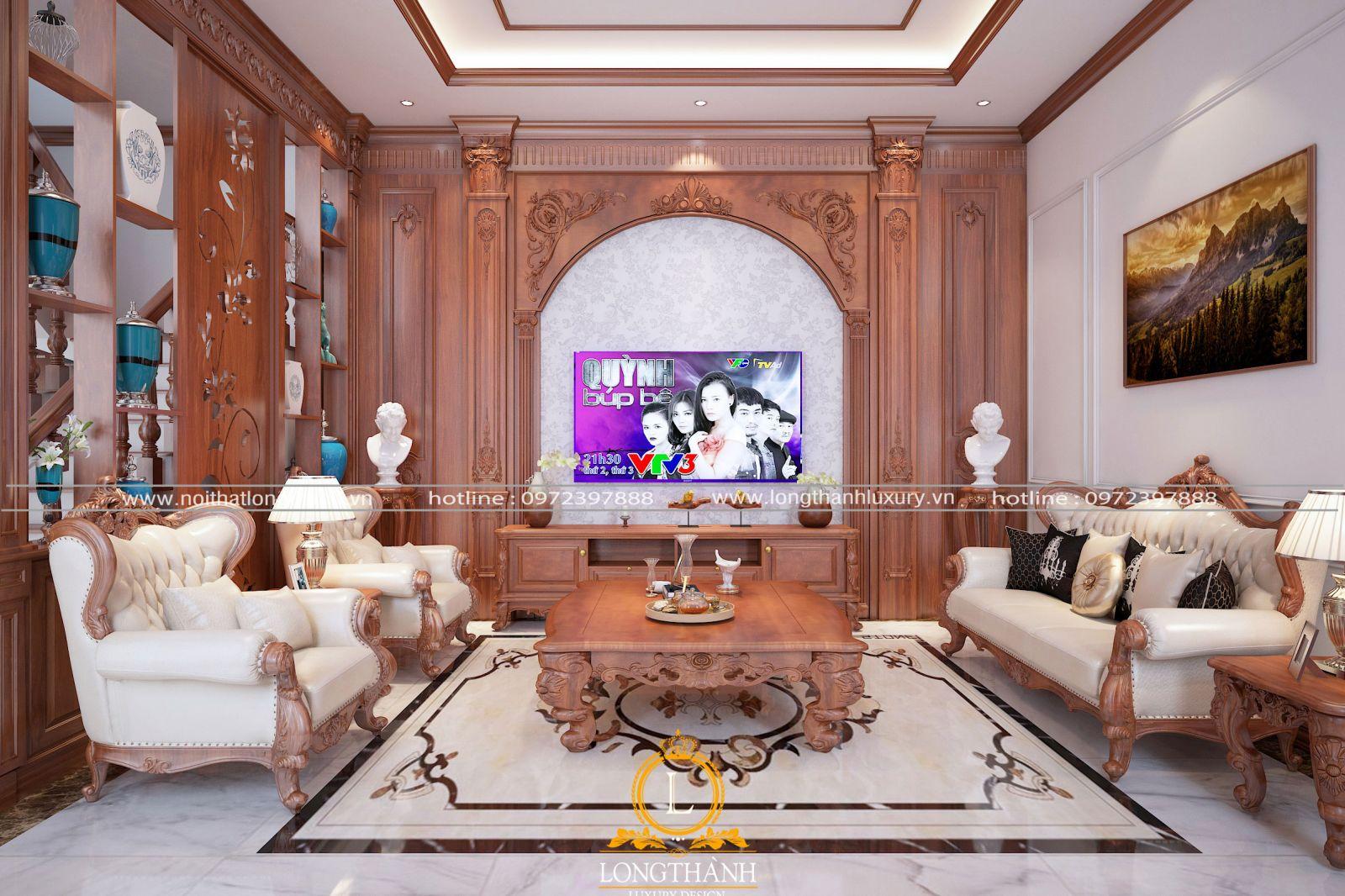 Thiết kế bộ sofa gỗ cần phù hợp với không gian, màu sắc và công năng sử dụng