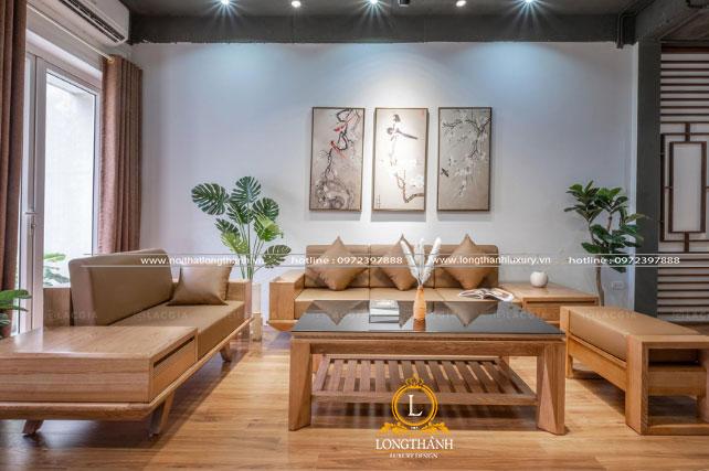 Bộ sofa gỗ tự nhiên đẹp độc đáo ấn tượng và tiện nghi