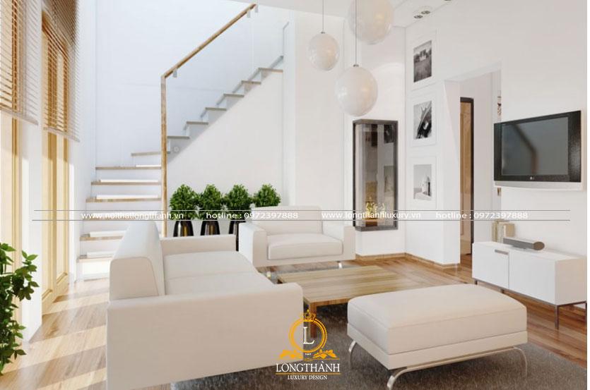 Bộ sofa màu trắng đẹp nổi bật