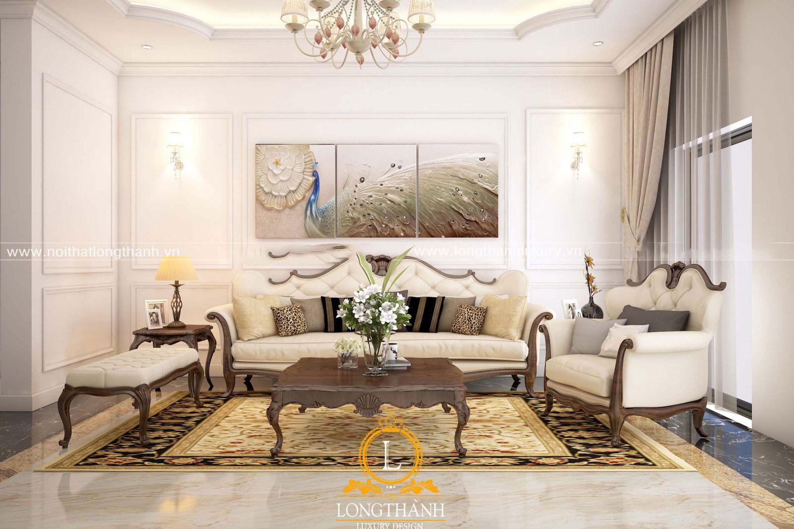 Bộ sofa phù hợp với diện tích phòng khách