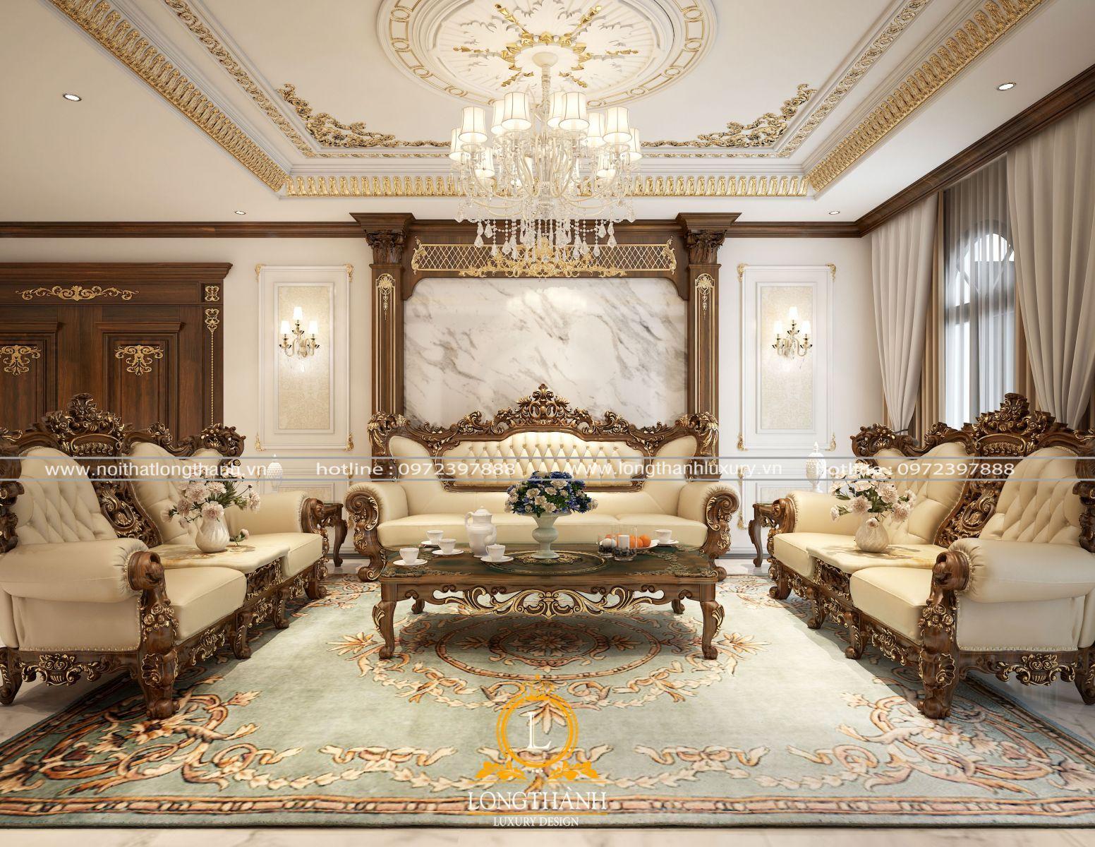 Bộ sofa đẹp sử dụng chất liệu cao cấp cho phòng khách sang trọng