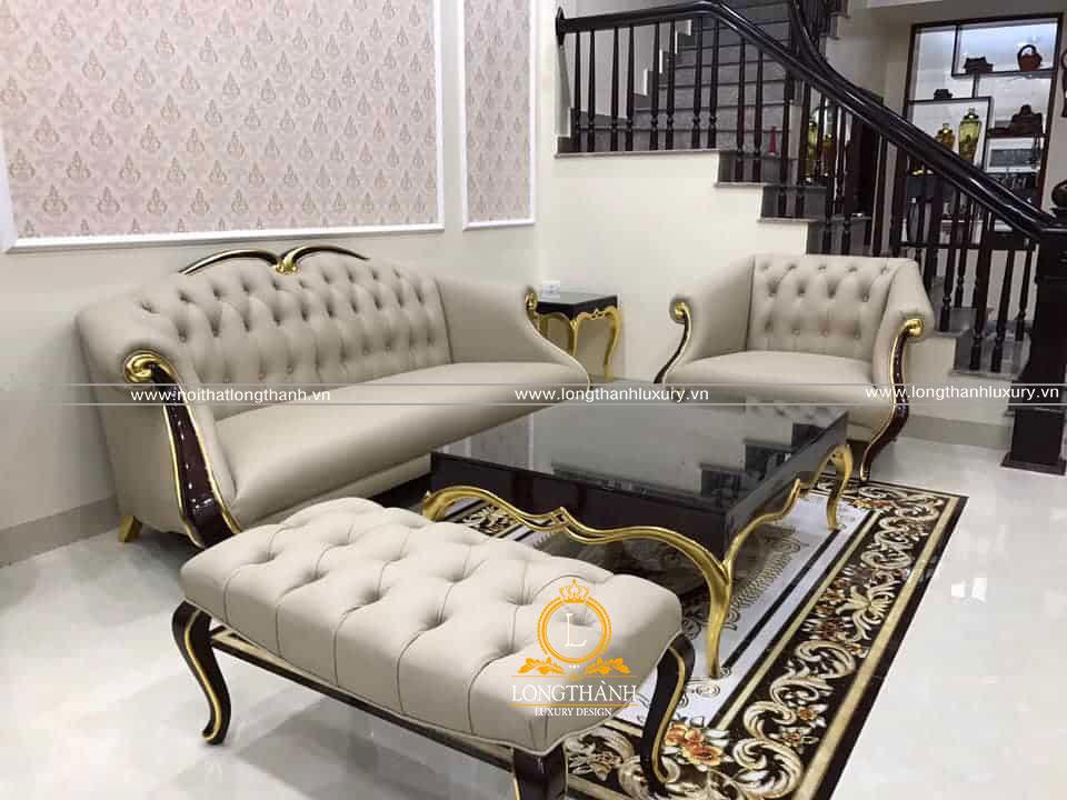 Bộ sofa tân cổ điển với thiết kế nhẹ nhàng ấn tượng