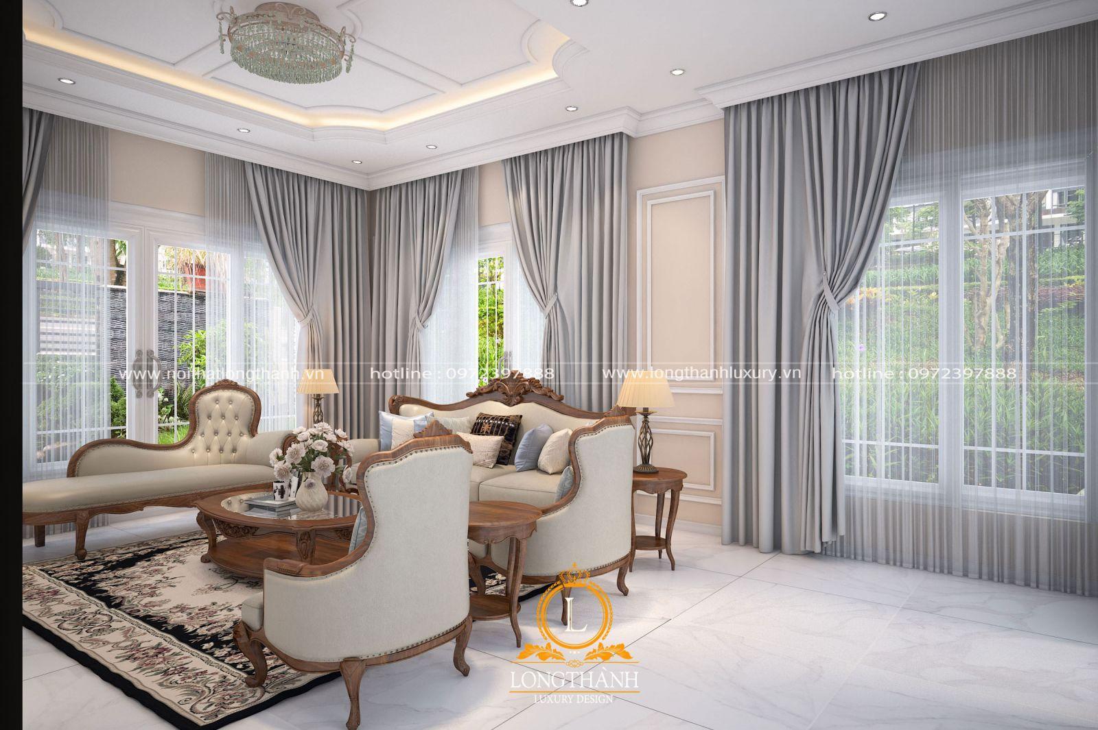 Bộ sofa tân cổ điển với chất lượng cao cấp
