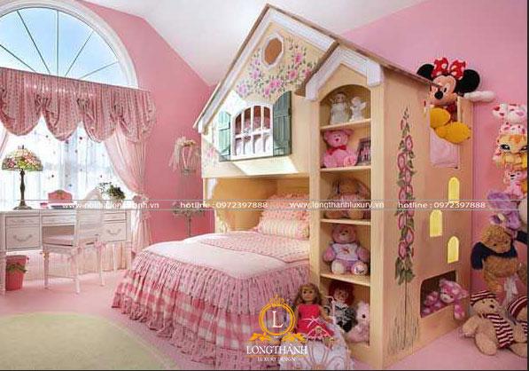Căn phòng ngủ  độc đáo dễ thương được trang trí bởi gấu bông