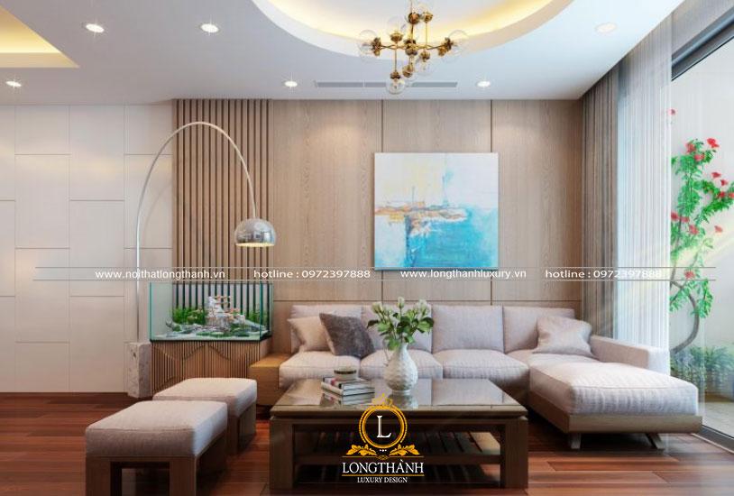 Căn phòng khách chung cư đẹp hiện đại