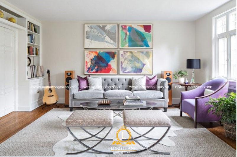 Căn phòng khách hiện đại thiết kế độc đáo
