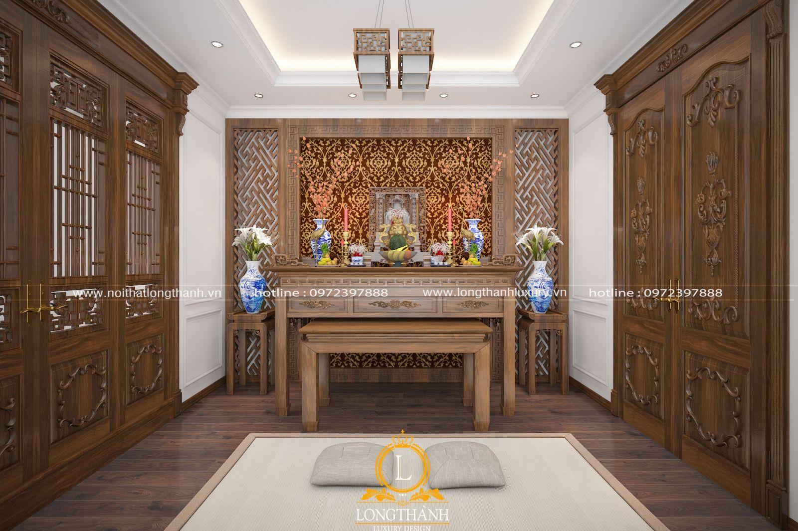 Căn phòng thờ theo phong cách hiện đại