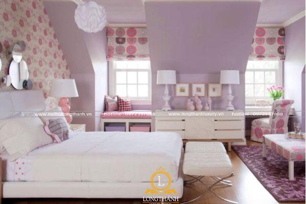 Chiếc giường ngủ là đồ nội  thất chủ đạo trong giường ngủ