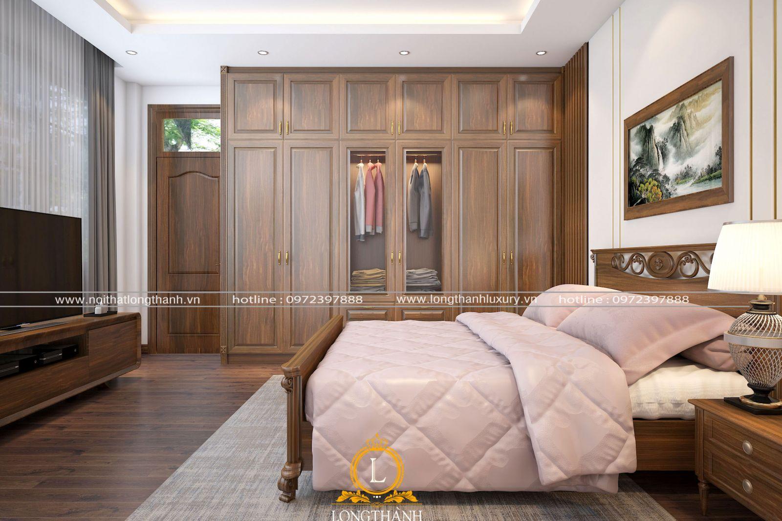 không gian phòng ngủ hiện đại nhỏ nhắn và tiện nghi