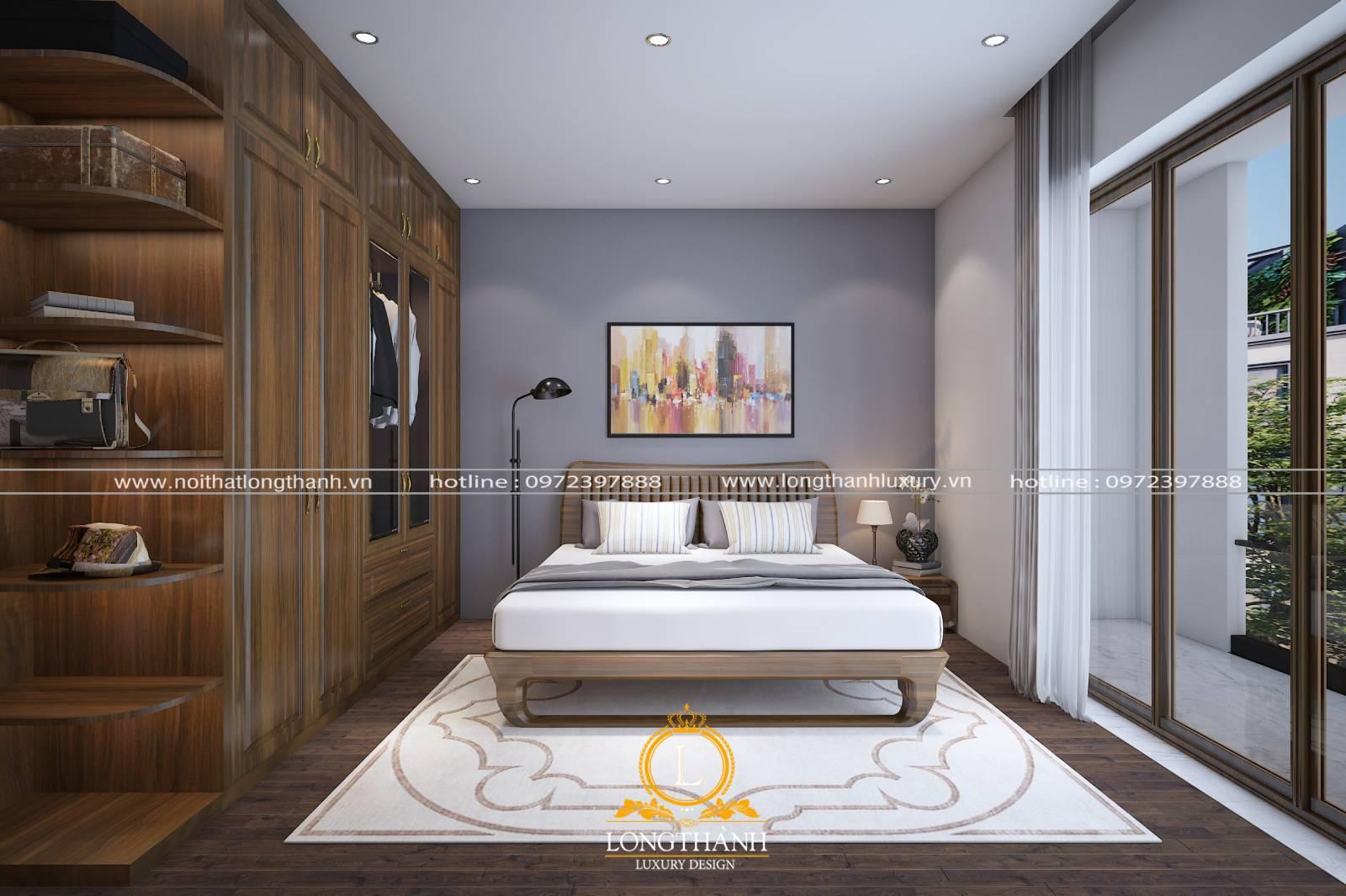 Giường tủ làm từ chất liệu gỗ tự nhiên cao cấp