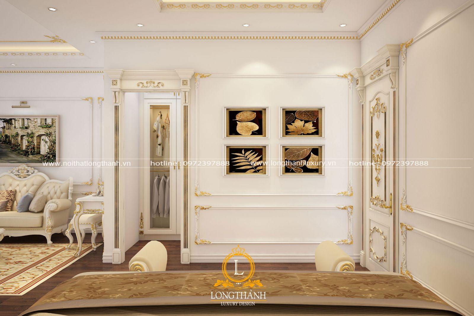 Phòng ngủ với thiết kế khu thay đồ riêng biệt