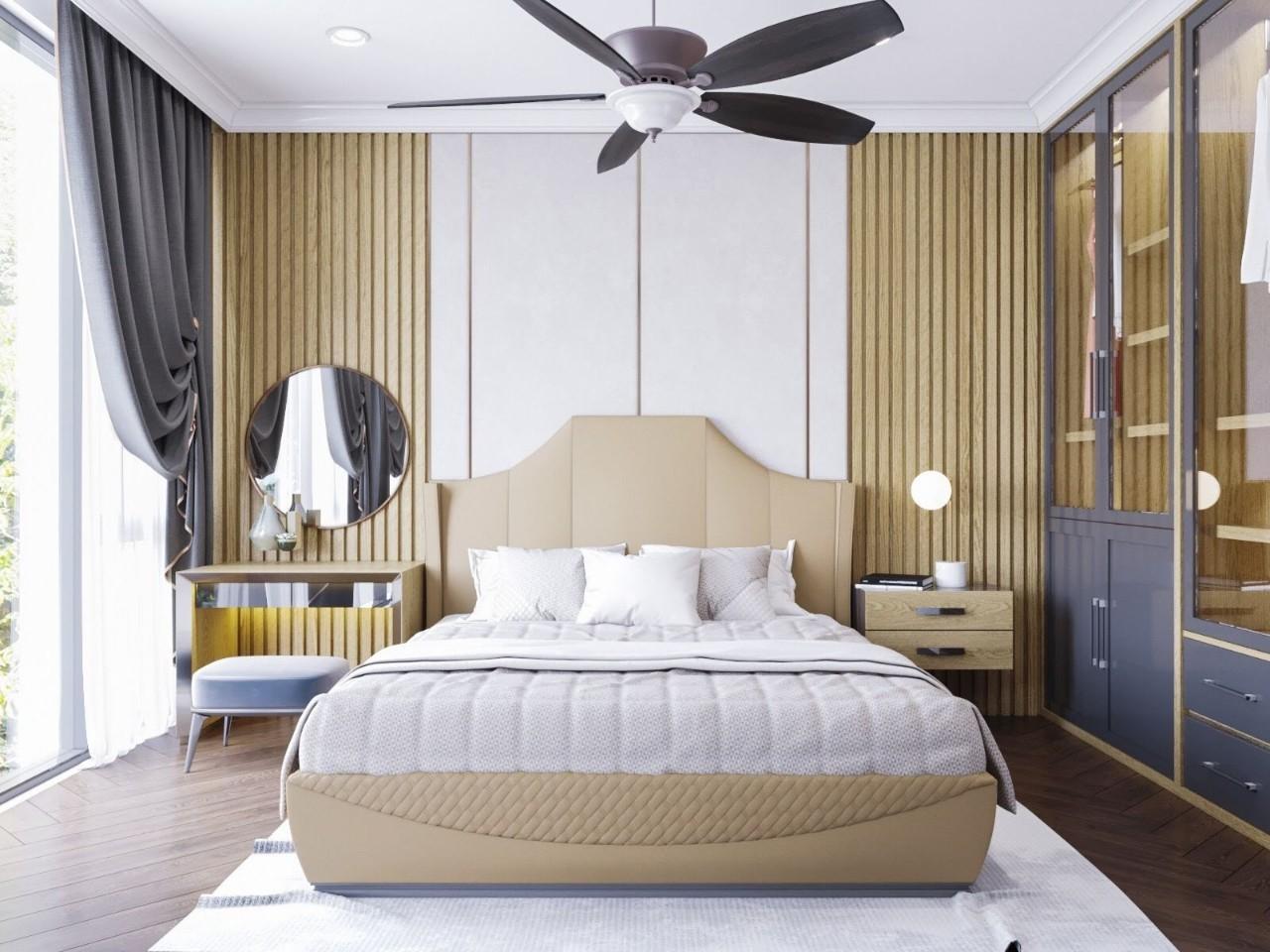 Gu thẩm mỹ ấn tượng cho phòng ngủ chung cư cao cấp hiện đại