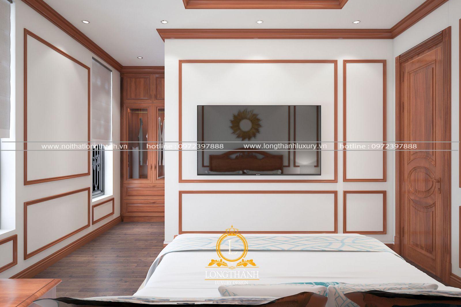 Hệ vách ngăn được thiết kế trong phòng ngủ hiện đại