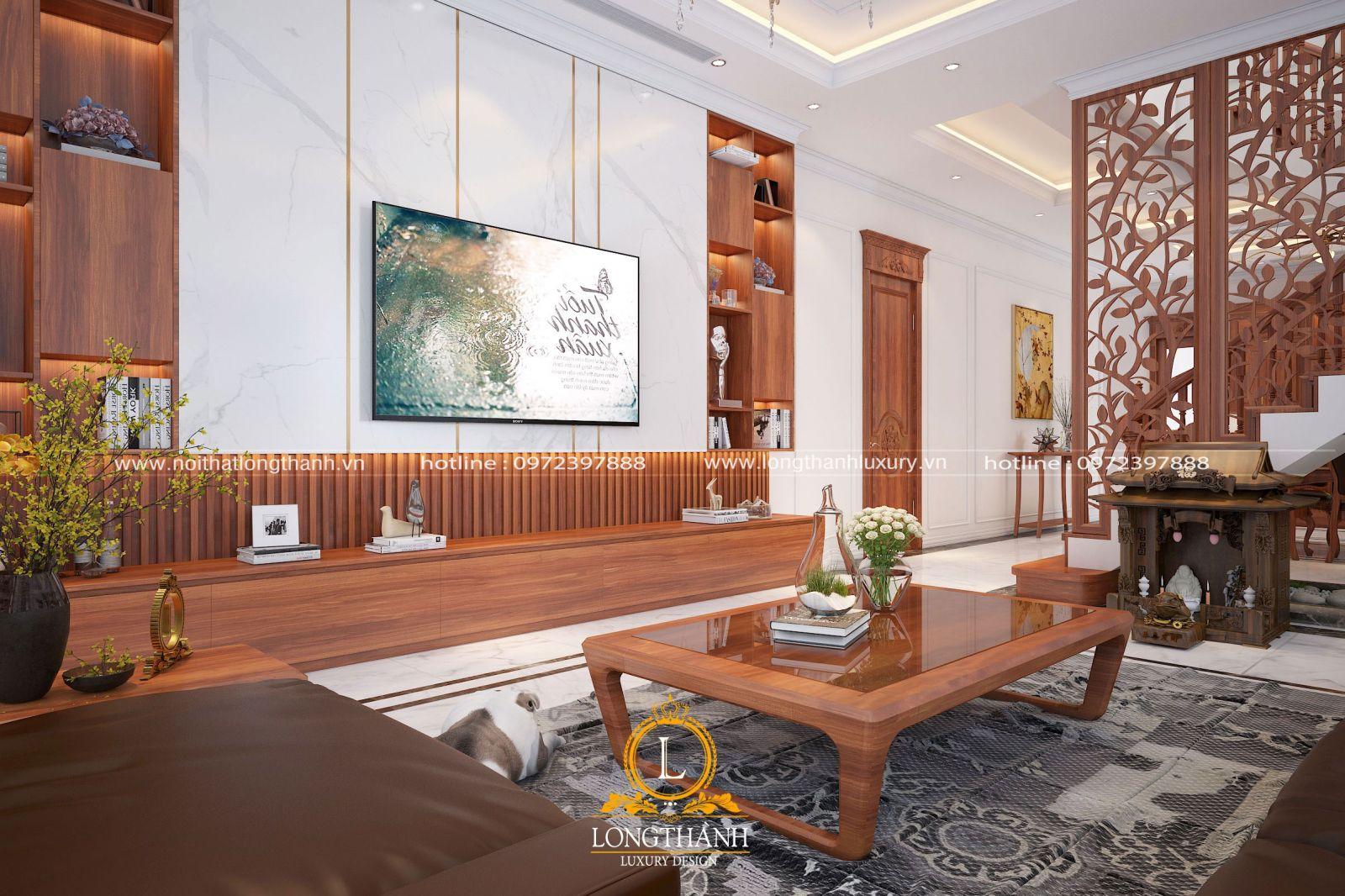 Phòng khách biệt thự với thiết kế hiện đại và sang trọng