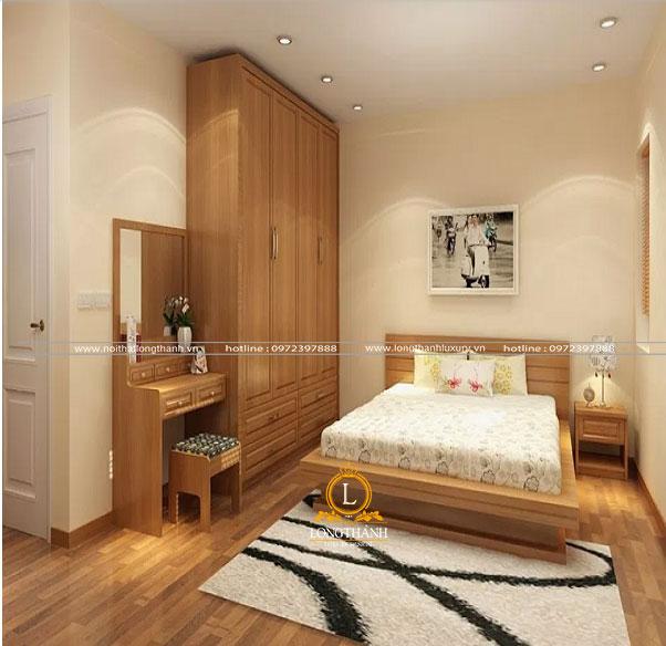 Không gian chung cư hiện đại  với chiếc bàn phấn đẹp