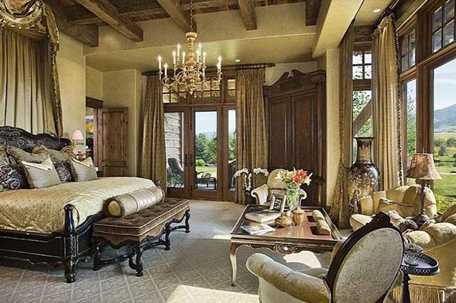 Không gian nội thất rustic cổ điển