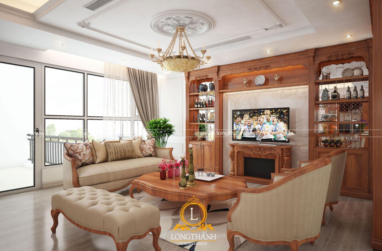 Không gian phòng khách nhỏ đẹp  với thiết kế nhẹ nhàng