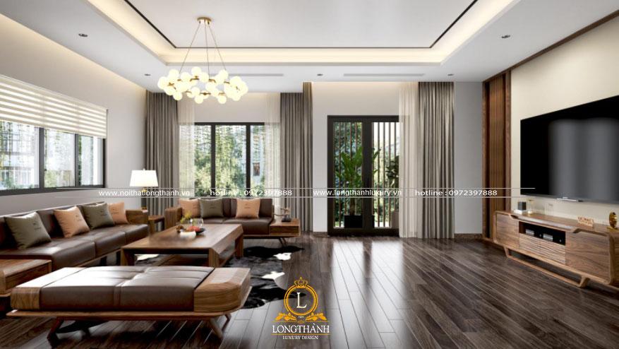 Nội thất sofa gỗ tự nhiên cao cấp được nhiều gia đình lựa chọn cho phòng khách