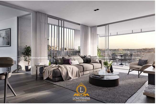 Không gian phòng khách hiện đại thiết kế mở