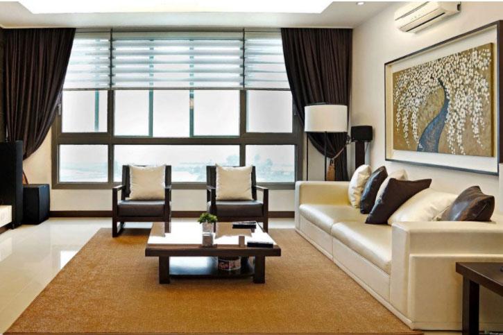 Không gian phòng khách nhiều ánh sáng tự nhiên