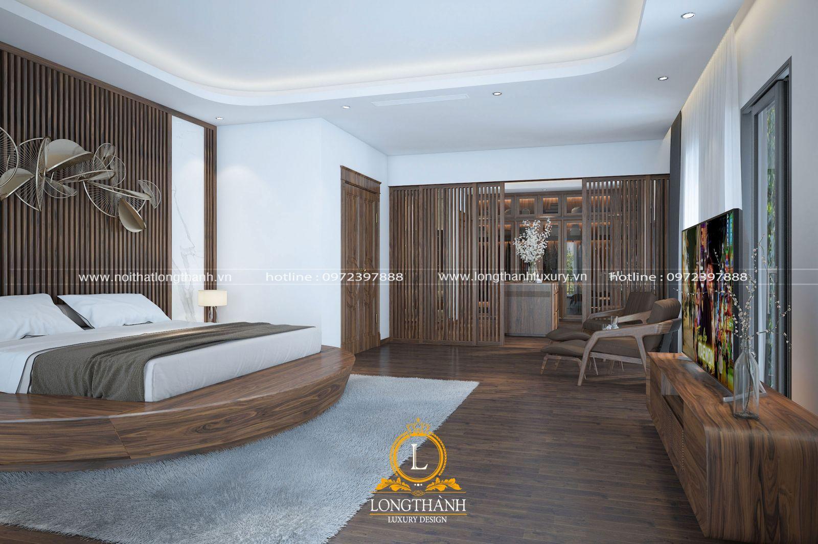 Thiết kế phòng ngủ hiện đại phù hợp không gian, diện tích