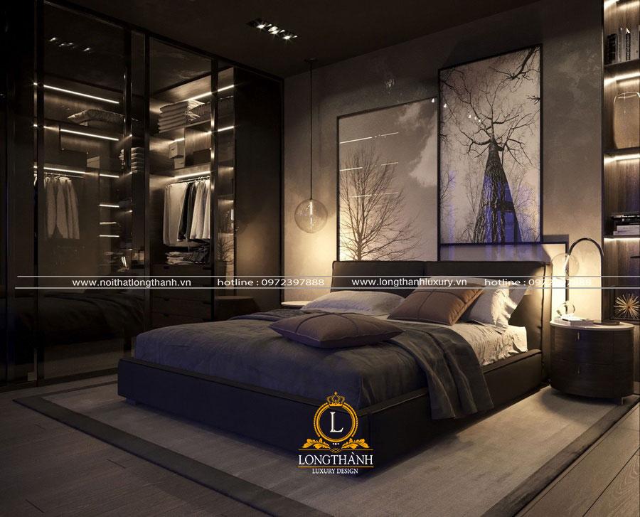 Không gian phòng ngủ hiện đại màu đen sang trọng và tinh tế