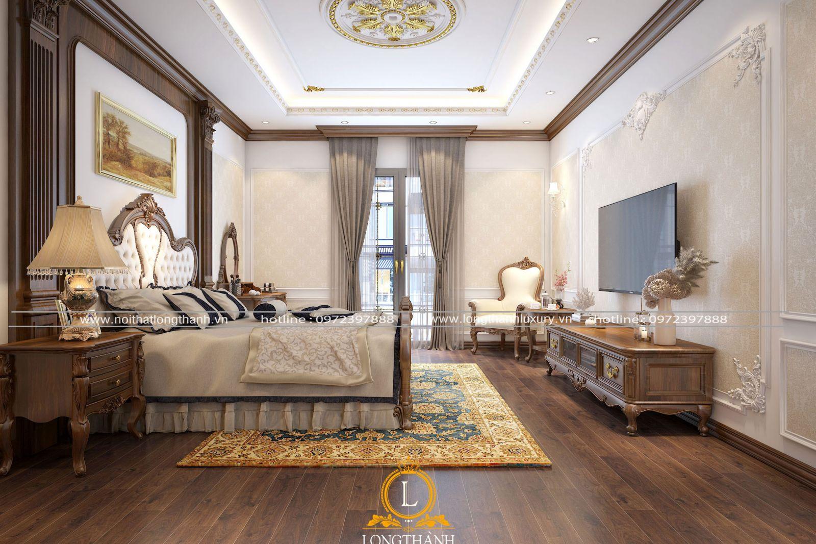 Không gian phòng ngủ thoáng đẹp