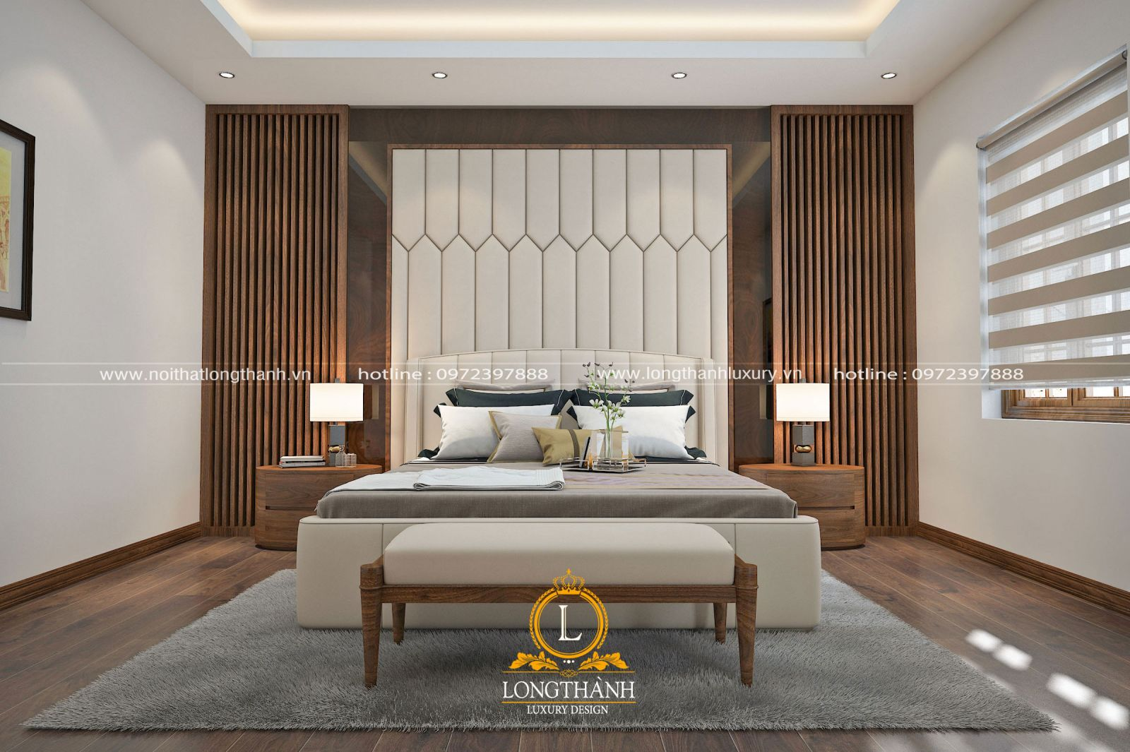 Phòng ngủ được lựa chọn chất liệu cao cấp