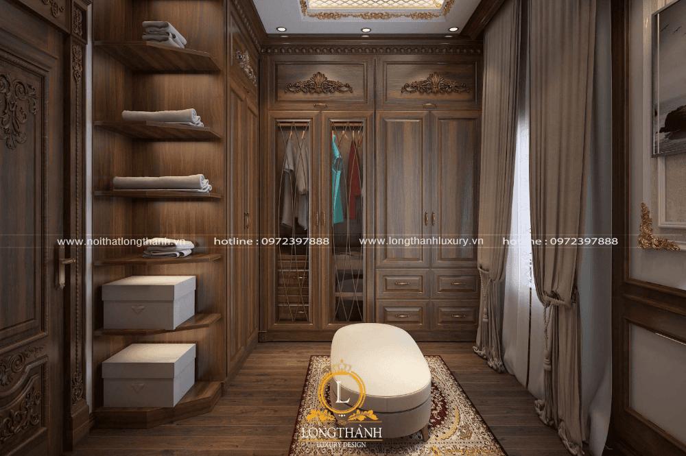 Long Thành thiết kế nội thất may do dạng Module, tận dụng từng cm2 trong phòng ngủ được tận dụng triệt để