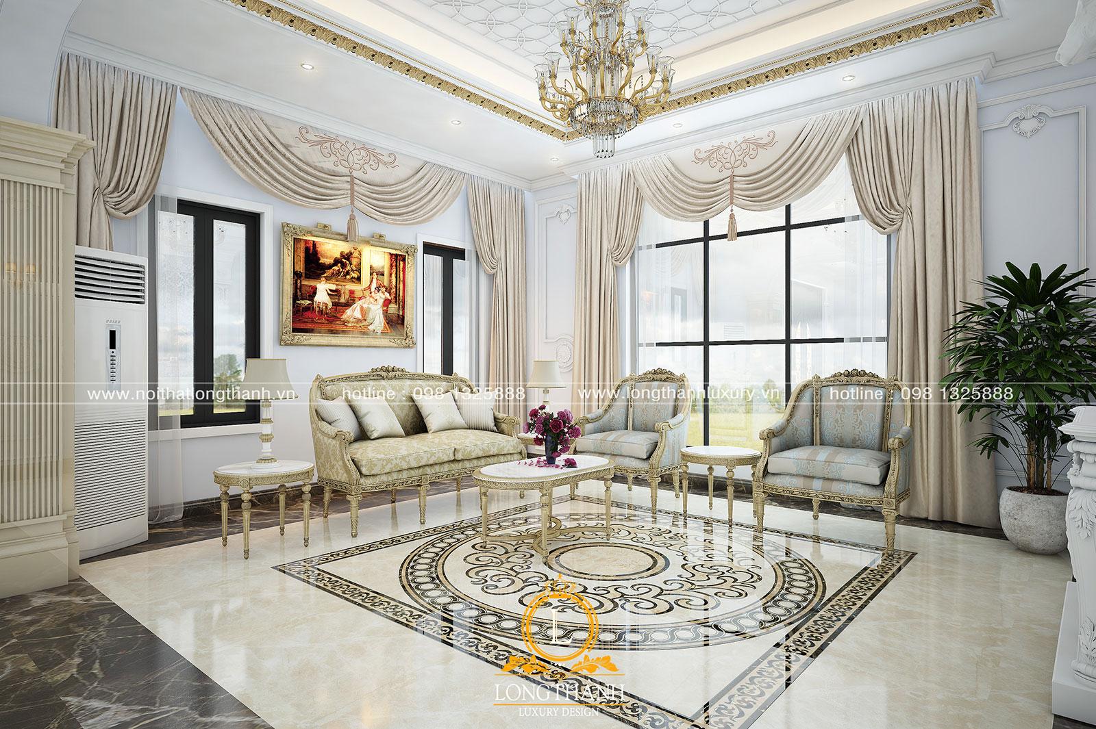 Phòng khách biệt thự đẹp LT18