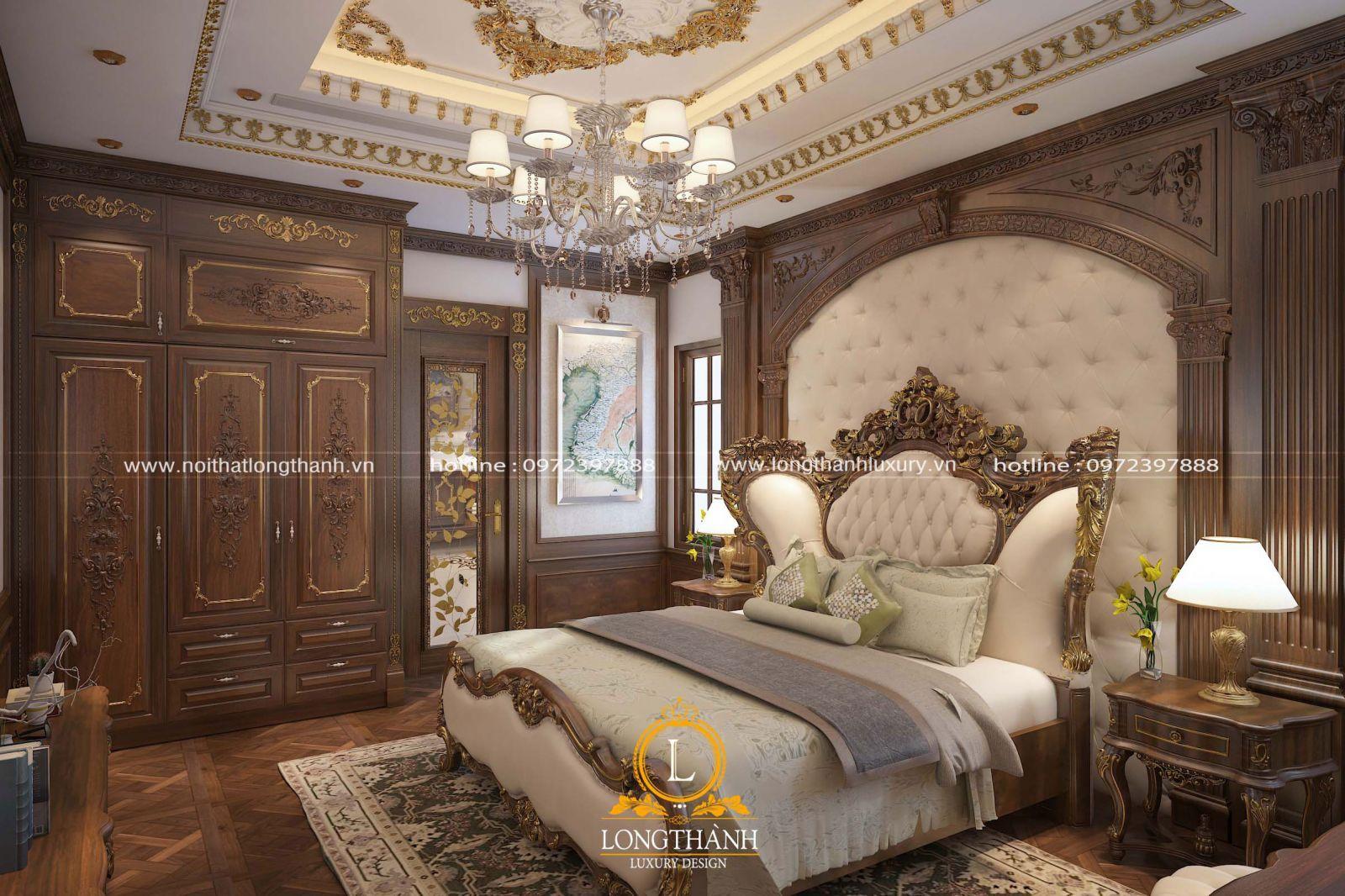 Phòng ngủ sang trọng được chạm trổ cầu kỳ