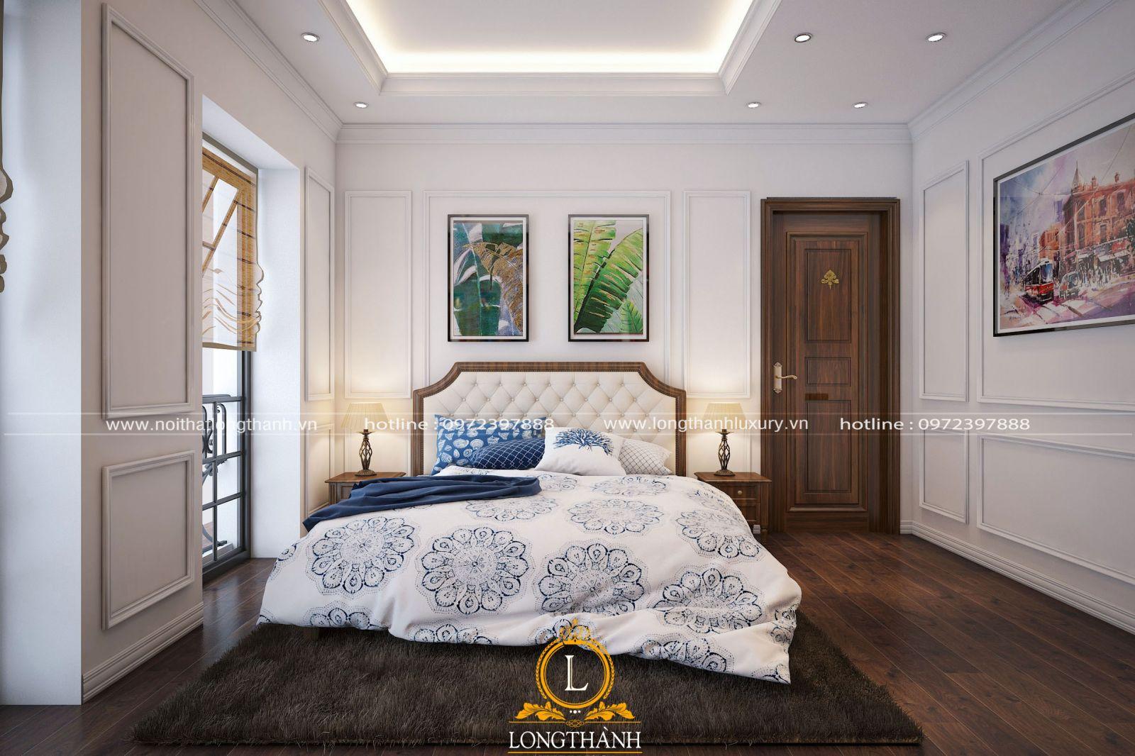 Ánh sáng tự nhiên được tận dụng tối đa trong không gian phòng ngủ