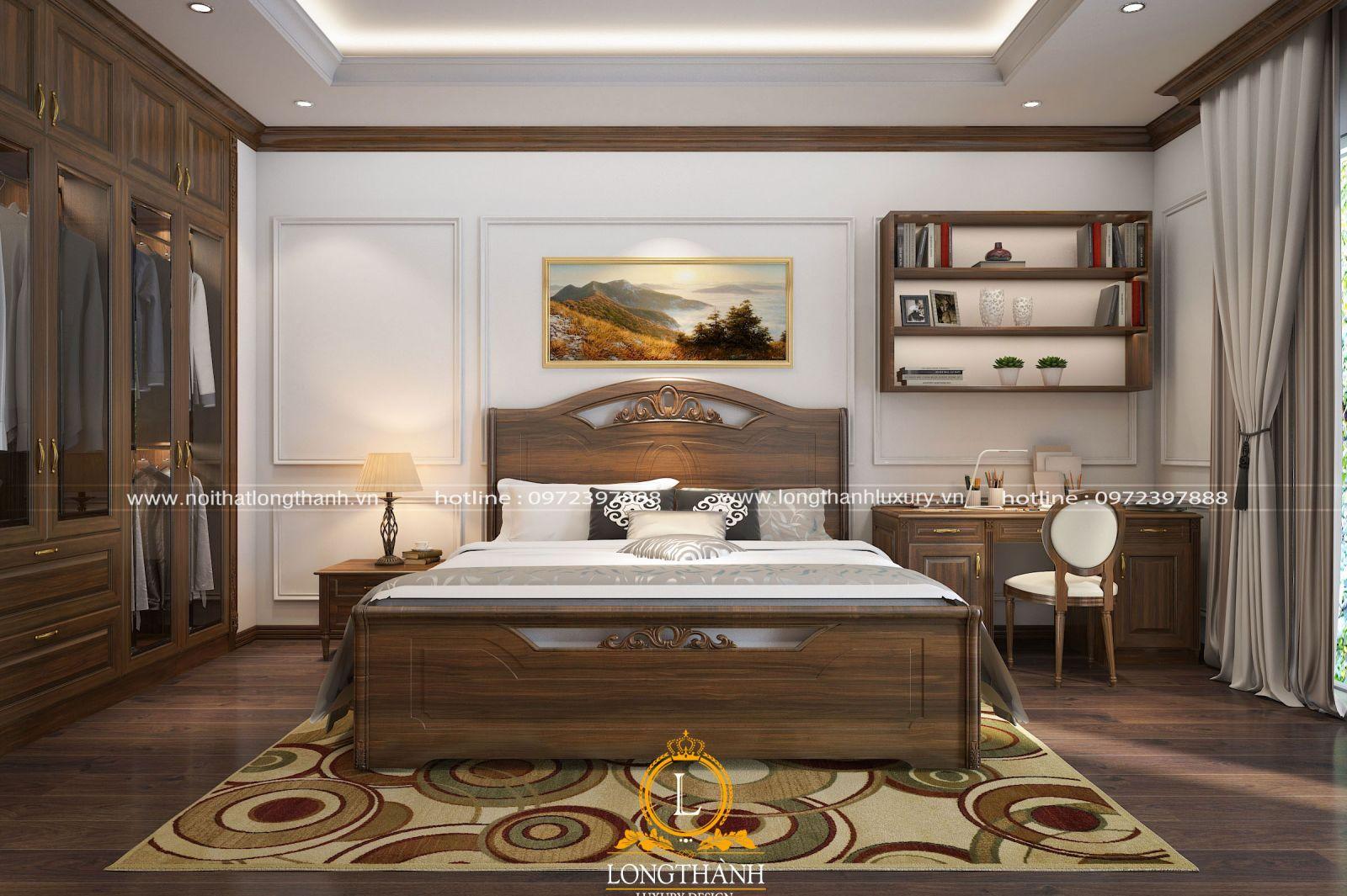 Chiếc giá sách treo tường giúp tận dụng diện tích không gian phòng ngủ 15m2