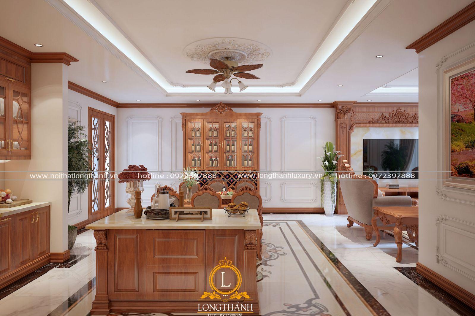 màu sắc bàn đảo phù hợp với nội thất trong không gian