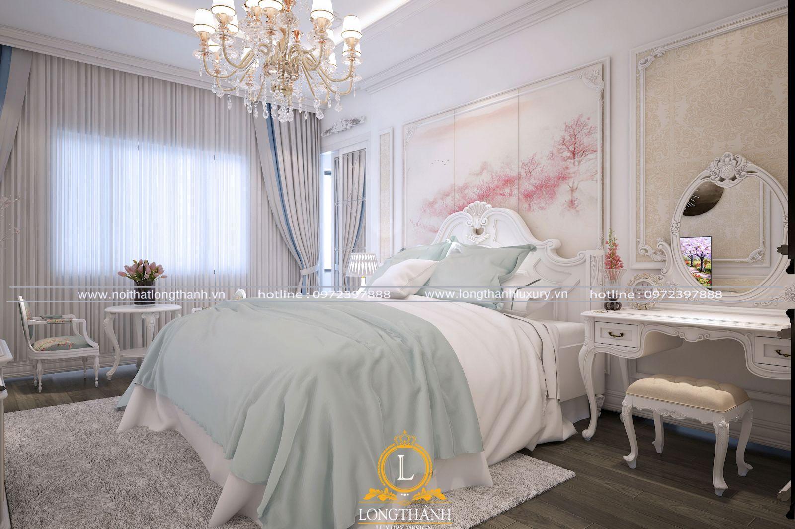 màu sắc phòng ngủ màu trắng đẹp tinh tế