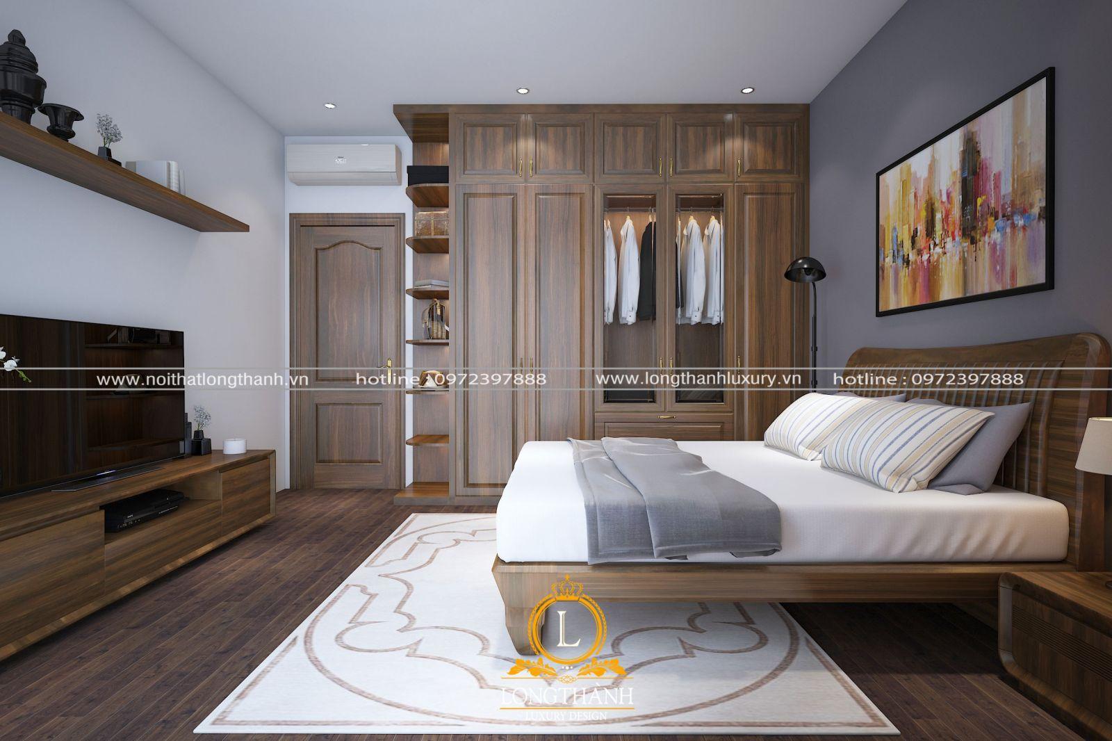 Màu sáng cho căn phòng ngủ hiện đại cuốn hút