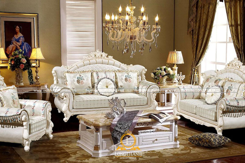 Bộ sofa đẹp với gam màu trắng độc đáo và nổi bật
