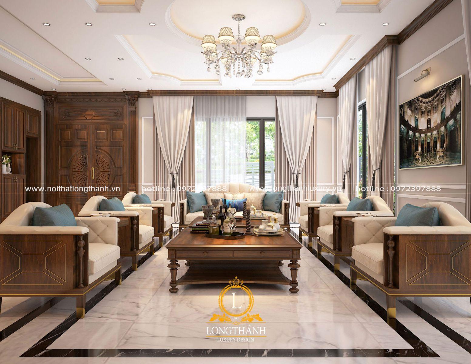 Mẫu sofa với thiết kế hiện đại trẻ trung cho không gian phòng khách đẹp