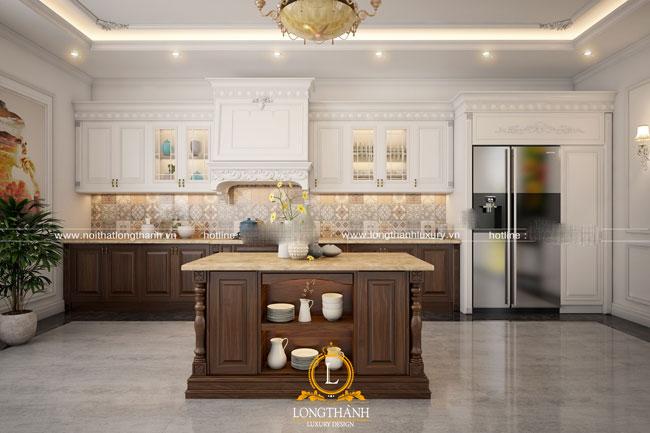 Trang trí tủ bếp nhà chung cư với mẫu cây xanh tự nhiên